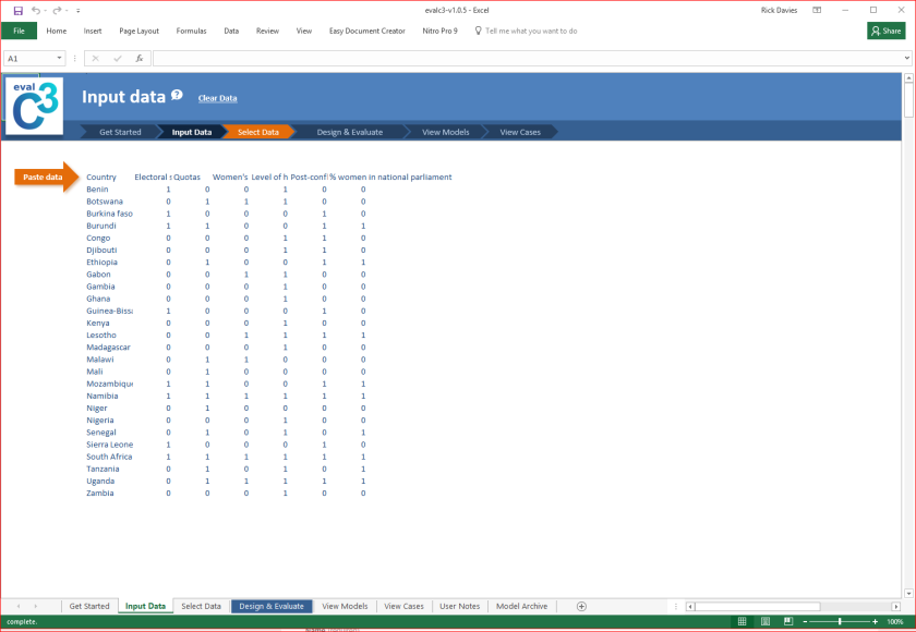 Input data worksheet image